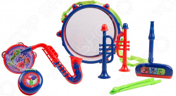 Набор музыкальных инструментов PJ Masks с барабаном «Герои в масках» pj masks набор толстых восковых карандашей герои в масках 8 цветов 34062