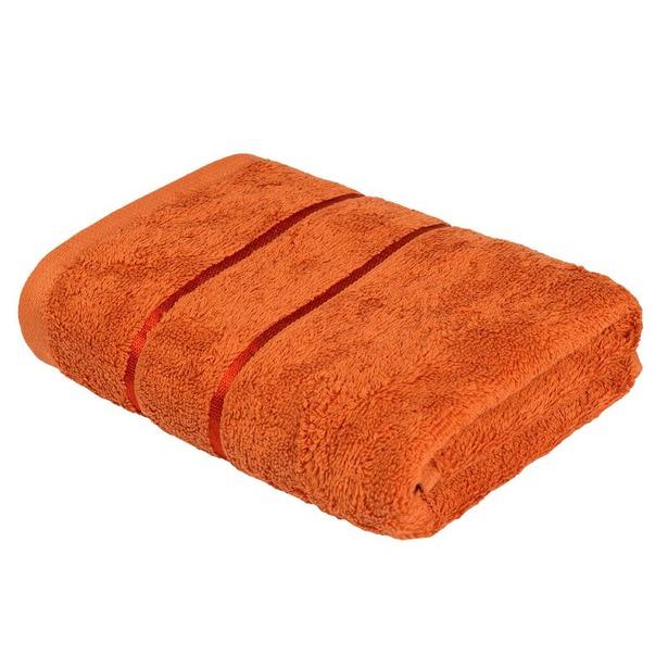 фото Полотенце махровое Ecotex «Египетский хлопок». Цвет: оранжевый