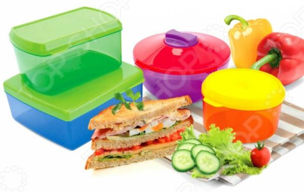 Набор контейнеров для хранения продуктов с охлаждающим элементом Bradex