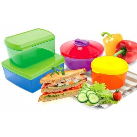 Купить Набор контейнеров для хранения продуктов с охлаждающим элементом Bradex