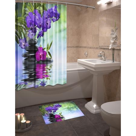 Купить Набор для ванной комнаты: шторка и коврик ТамиТекс «Аура»