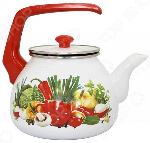 все цены на Чайник эмалированный Interos «Рататуй» онлайн