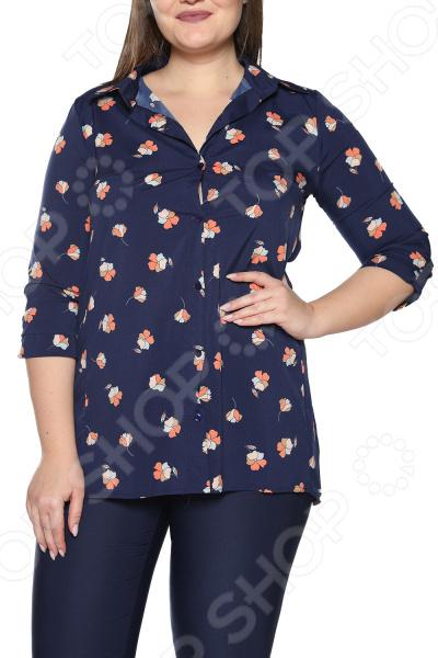 Рубашка Pretty Woman «Магия рассвета». Цвет: темно-синий туника pretty woman шарлота цвет темно синий