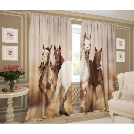 Купить Фотошторы ТамиТекс «Лошади»