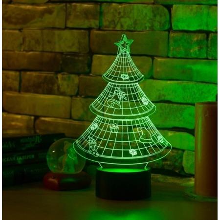 Купить Светильник 3D «Новогодняя елочка»