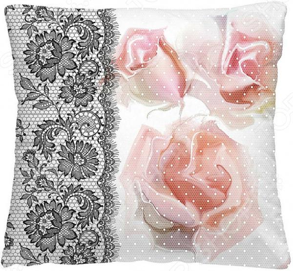 Подушка декоративная Волшебная ночь «Ажурные розы»