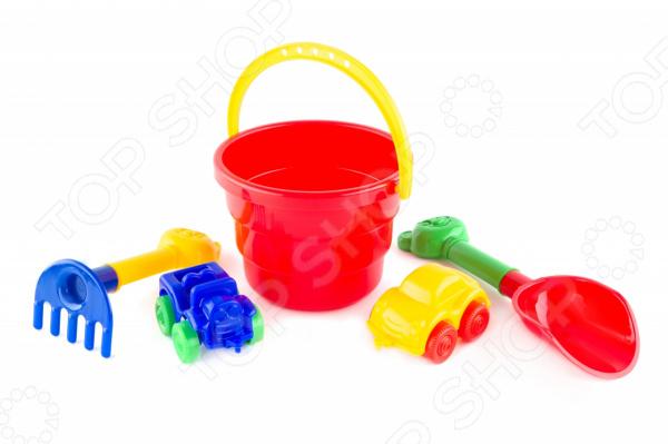 Набор для игры в песочнице Пластмастер «Гонки» 4m фигурки из формочки русалочка