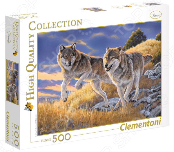 Пазл 500 элементов Clementoni HQ «Волки» clementoni пазл hq волки 500