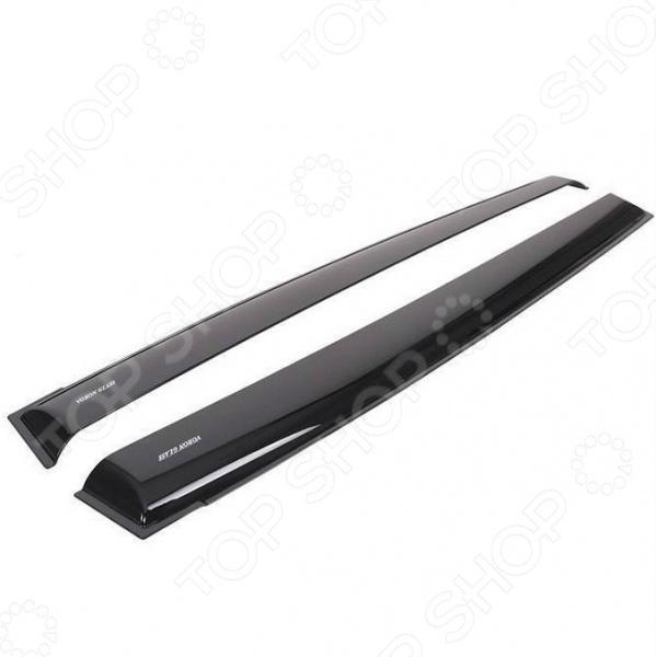 Дефлекторы окон неломающиеся накладные Azard Voron Glass Samurai Daewoo Gentra 2013