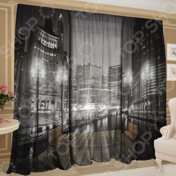 Фотокомплект: тюль и шторы ТамиТекс «Ночной дозор» 1
