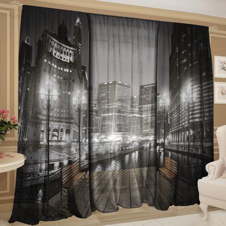 Купить Фотокомплект: тюль и шторы ТамиТекс «Ночной дозор»