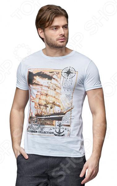 Футболка Milliner «Корабль». Цвет: белый