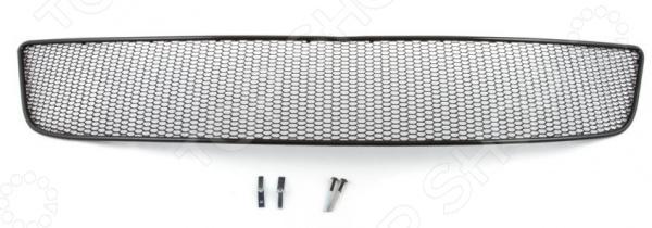 Комплект внешних сеток на бампер Arbori Soty для Infiniti QX60, 2014. Цвет: черный