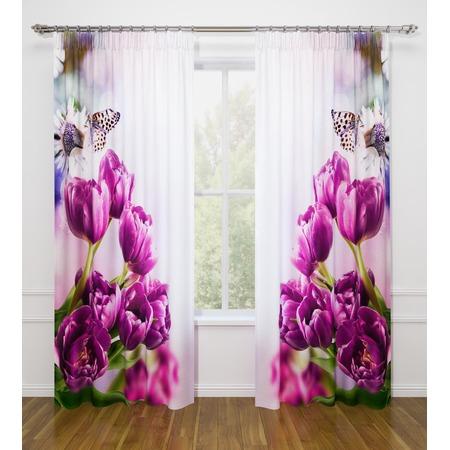 Купить Фотошторы Стильный дом «Фиолетовые тюльпаны»