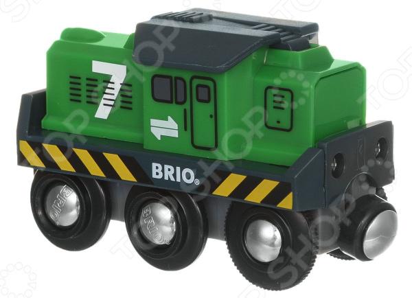 Локомотив игрушечный со световыми эффектами Brio 33214