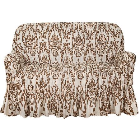 Купить Натяжной чехол на двухместный диван Еврочехол «Фантазия. Венеция»