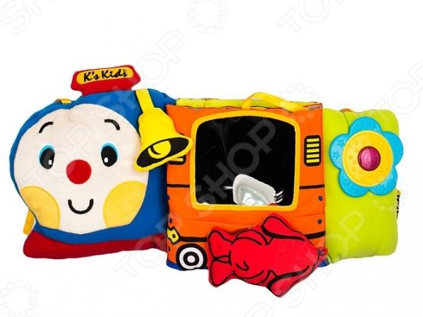 Мягкая игрушка развивающая K'S Kids «Паровозик Чух-Чух» мягкая игрушка развивающая k s kids часы сова