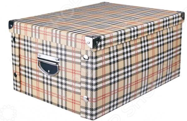 Короб для хранения Miolla CFB. Рисунок: «шотландская клетка» подставка для украшений miolla pu003