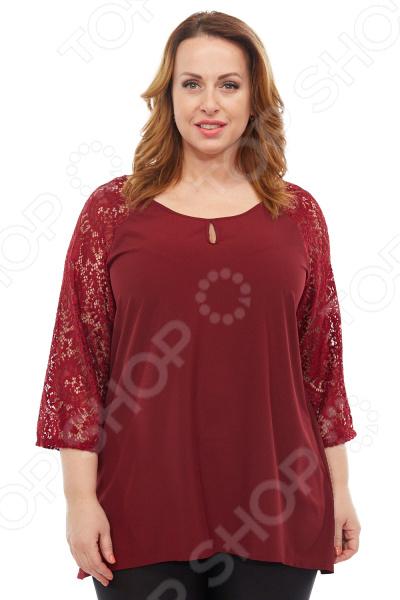 Блуза Элеганс «Ундина». Цвет: бордовый