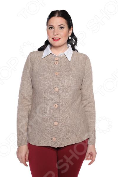 Жакет Milana Style «Любимая история». Цвет: бежевый жакет milana style хрустальная роса цвет джинсовый