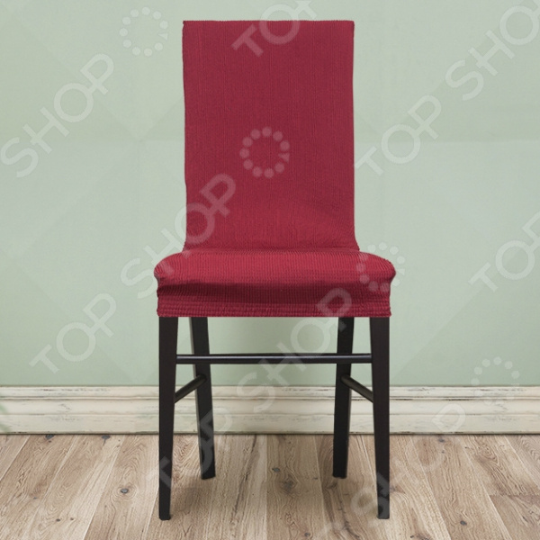 Zakazat.ru: Комплект натяжных чехлов на стул Еврочехол «Рустика». Цвет: бордовый