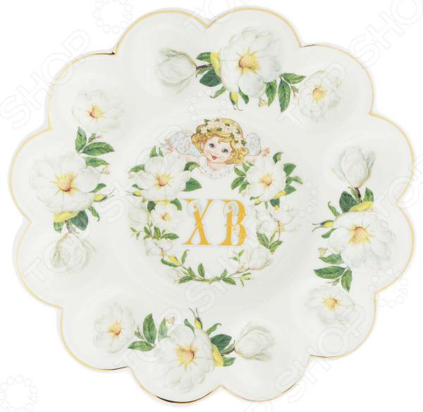 Менажница для яиц Elan Gallery «ХВ. Белый шиповник» менажница elan gallery белый шиповник на крутящейся подставке 5 секций