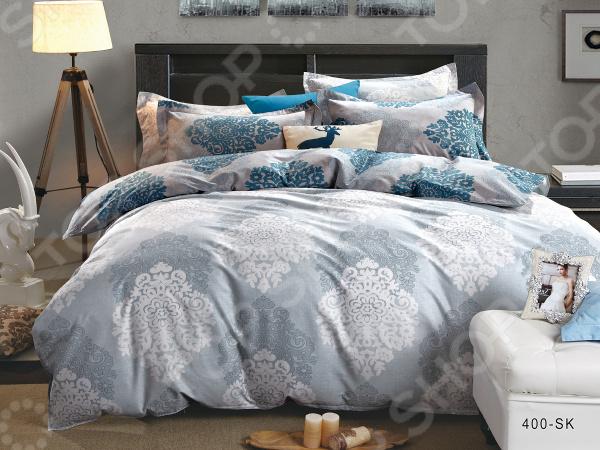 Комплект постельного белья Cleo 400-SK комплекты постельного белья cleo постельное белье hunter 2 спал