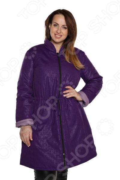 Куртка Гранд Гром «Зимние цветы». Цвет: фиолетовый