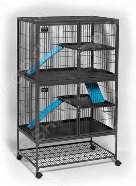 Клетка для хорьков MidWest Ferret Nation 2 этажа гамак для хорьков midwest hammock hideaway
