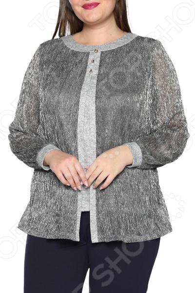Блуза ТРЕНД «Берег любви». Цвет: серый блуза тренд радужный блеск цвет бордовый