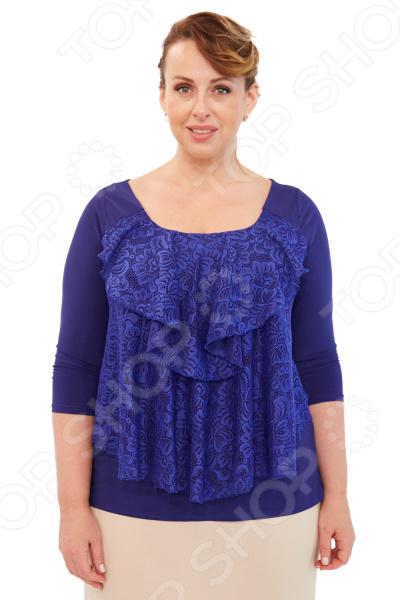 Блуза Элеганс «Любимая женщина». Цвет: васильковый