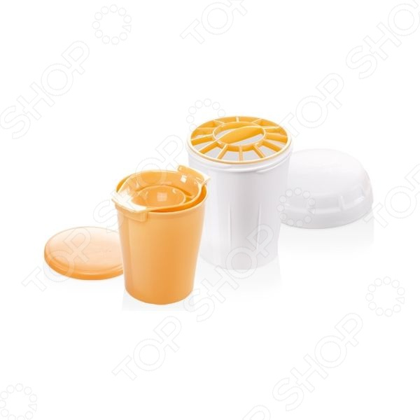 Отделитель белков и шейкер 630093 Tescoma Delicia приспособление для быстрого и аккуратного отделения яичного белка от желтка. Модель выполнена из прочного материала, что гарантирует долгий срок службы и неприхотливость в обслуживании. Поставьте разделитель над сосудом и разбейте яйцо над ним, чтобы белок прошел сквозь отверстия в нем, а желток остался. Шейкер используется при изготовлении смесей на омлеты, блинчики и тонкого жидкого теста.