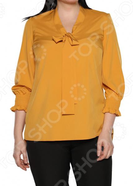 Блуза Blagof «Нежные очертания». Цвет: горчичный блуза blagof блуза мерси цвет персиковый