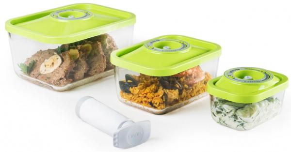 фото Набор: контейнеры вакуумные и насос STATUS VAC-Glass-Set, Вакуумные упаковщики