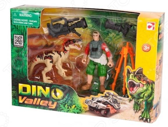 Набор игровой Chapmei «Динозавр Эораптор и кинооператор»