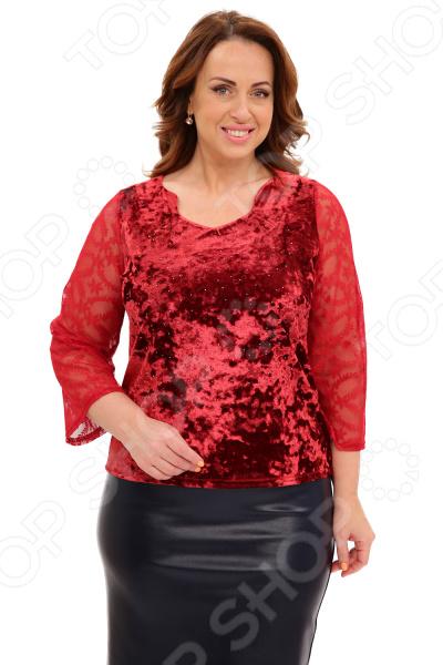 Блуза Матекс «Звездный блеск». Цвет: бордовый туника матекс огненная леди цвет васильковый