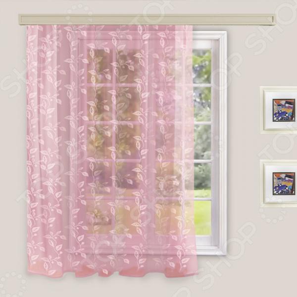 Тюль WITERRA. Цвет: бледно-розовый. В ассортименте