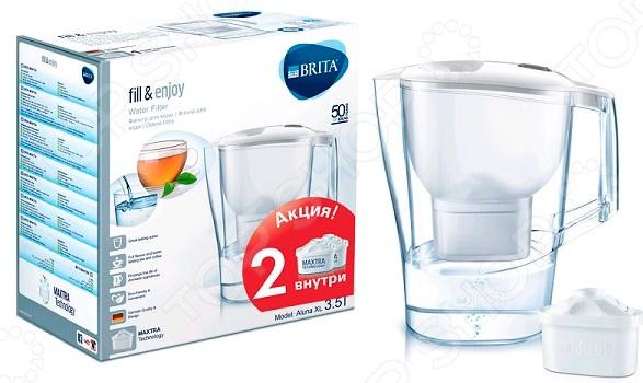 Фильтр-кувшин для воды Brita с двумя кассетами Aluna XL