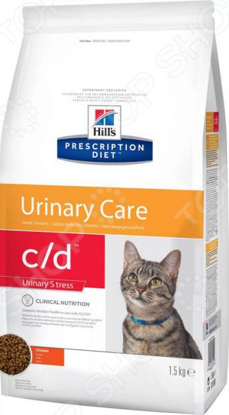 Корм сухой диетический для кошек Hill's С/D Prescription Diet Feline Urinary Stress
