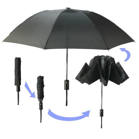 Купить Умный зонт «Наоборот». Цвет: черный. Уцененный товар