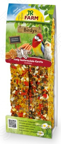 Лакомство для крупных попугаев JR Farm Honig Austernschale Karotte игровые наборы tomy britains big farm фермерский прицеп со свинками