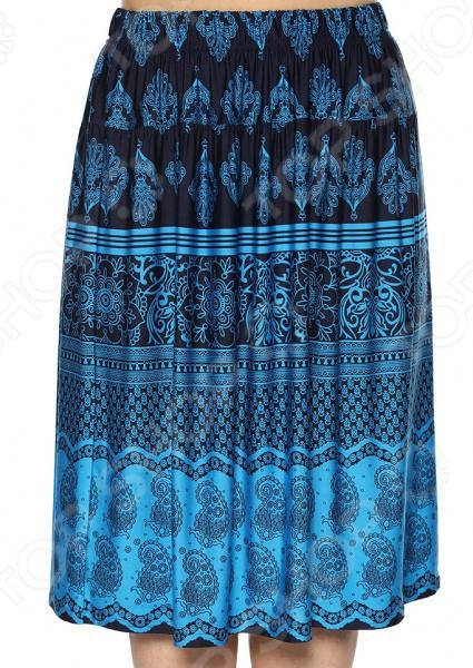 Юбка Лауме-Лайн «Красивый акцент». Цвет: голубой