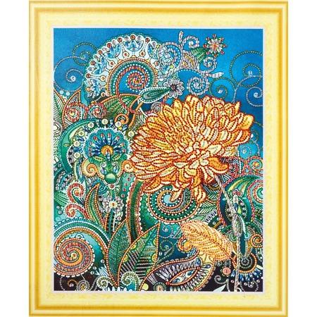 Купить Набор для творчества Color Kit «Алмазная мозаика». Рисунок: «Золотая хризантема»