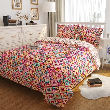 Купить Комплект постельного белья Сирень «Жаккардовая сказка». Евро