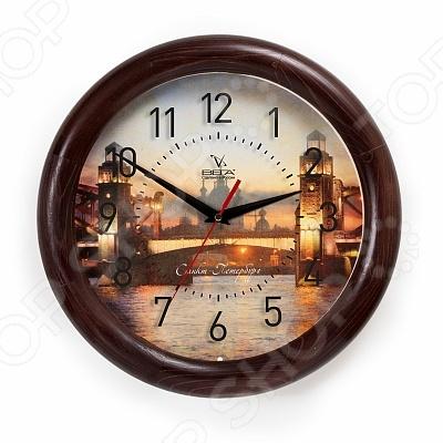 Часы настенные Вега Д 1 МД/7 236 «Мост Санкт Петербург»