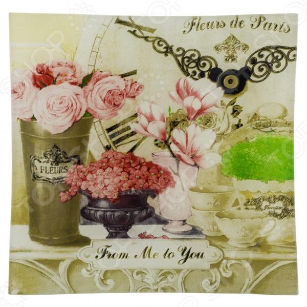 Тарелка десертная Gift'n'home «Парижские цветы» тарелка gift