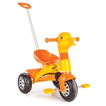 Велосипед трехколесный PILSAN Ducky с регулируемой ручкой в пакете. В ассортименте