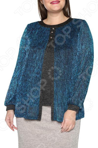 Блуза ТРЕНД «Берег любви». Цвет: синий блуза тренд радужный блеск цвет бордовый