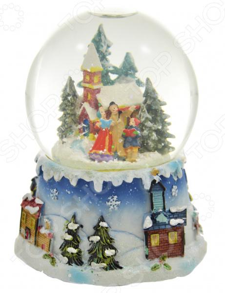 Снежный шар музыкальный Crystal Deco «Рождественское пение» новогоднее украшение crystal deco шар в ассортименте