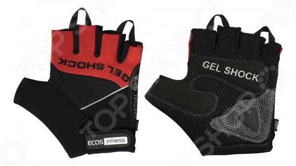 Перчатки для фитнеса Ecos 2117 Перчатки для фитнеса Ecos 2117-RL /Красный/Черный